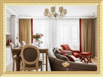Заказ штор в гостиную комнату