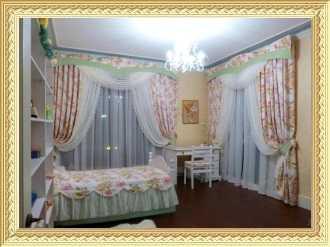 Заказать дизайн и пошив штор для детской комнаты